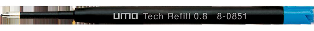 8-0851 uma Tech® Refill 0.8 blue